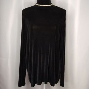 DRESSBARN Woman Black Turtleneck Sz 1X